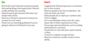 pinterest contest rules