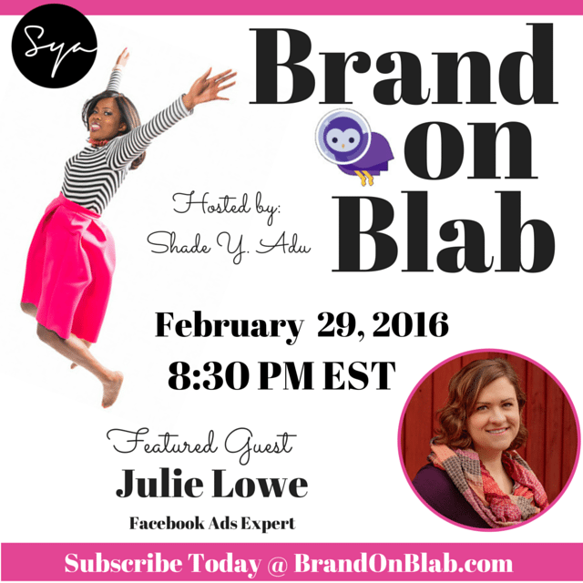 Brand on Blab episode with Julie Lowe, Socially Aligned