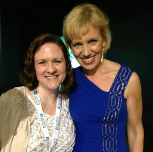 Julie with Mari Smith at Social Media Marketing World 2013