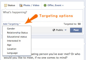 You can choose to target by any or all of the option found in the drop down after you click the targeting icon.