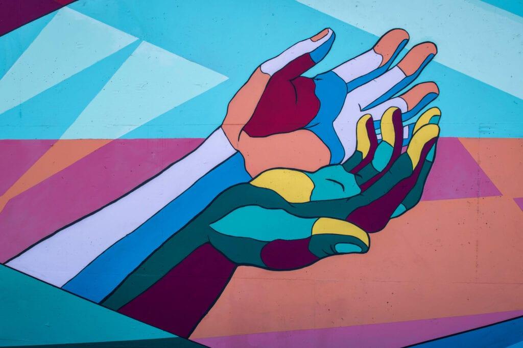 abstract hand art